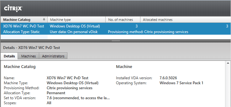 Adding Machines to a Personal vDisk Citrix XenDesktop 7 x