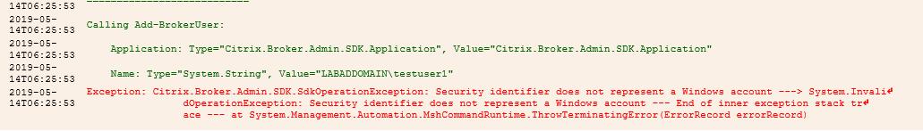 New Script: Get-BrokerInvalidAccounts for Event ID Error 505 Citrix