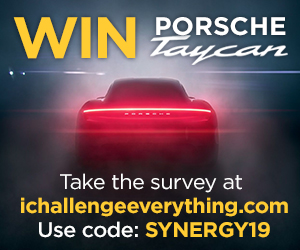 Enter for a chance to win a Porsche Taycan