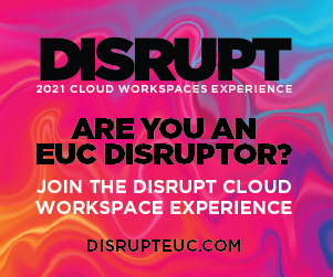 DISRUPT 2021 Cloud Workspaces Experience