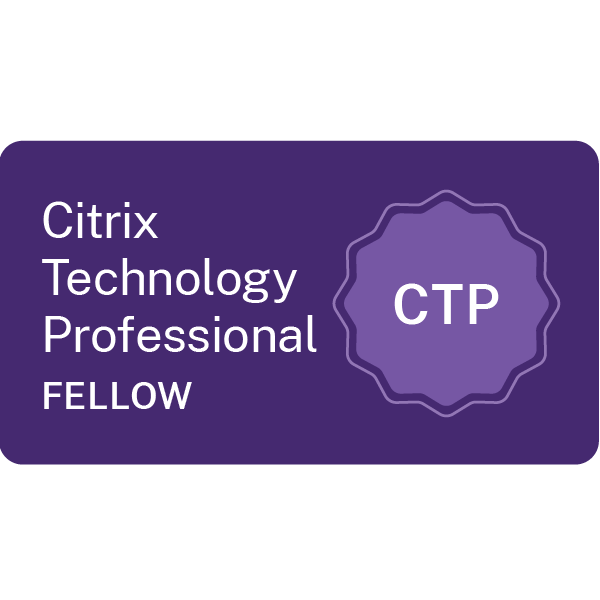 Carl Webster is a Citrix Technology Professional Fellow